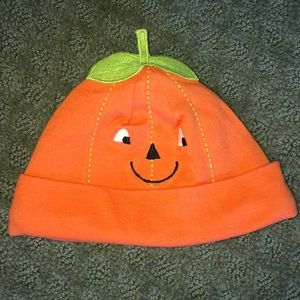 Carter's orange pumpkin hat